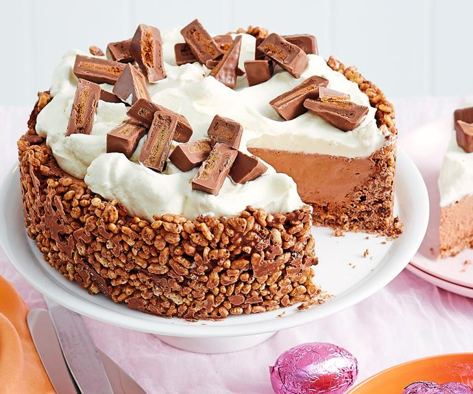 Tim Tam crackle cheesecake