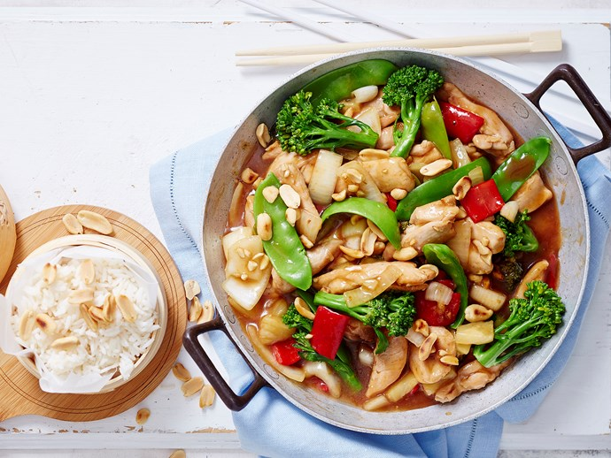 "**[Sweet and sour chicken](http://www.foodtolove.com.au/recipes/sweet-and-sour-chicken-31711|target=""_blank""):** An old favourite that never fails to please, this easy (and budget-friendly) Chinese chicken recipe is brilliant served with fluffy steamed rice."