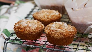 Feijoa, lemon and coconut muffins