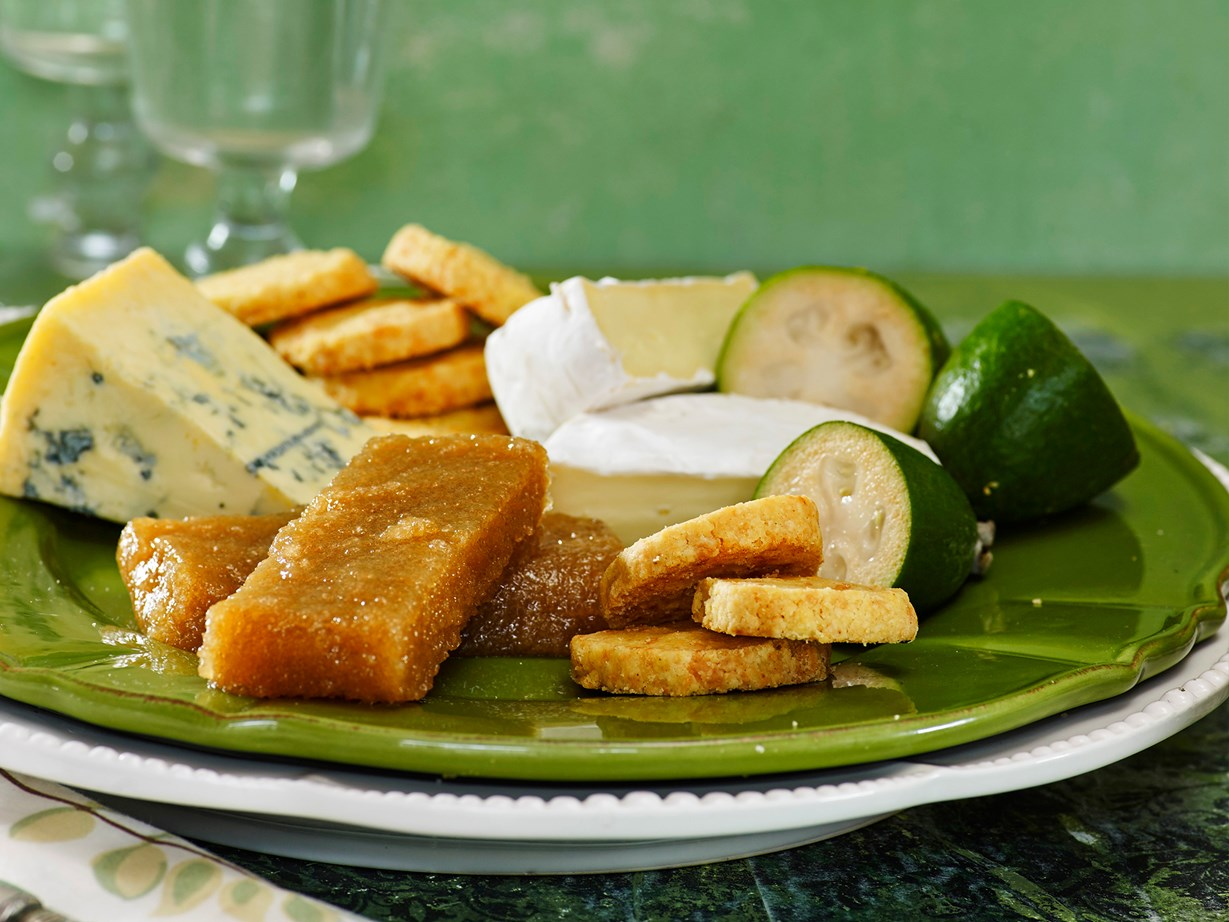 """[Feijoa paste is great on cheese platters.](http://www.foodtolove.co.nz/recipes/feijoa-paste-22148