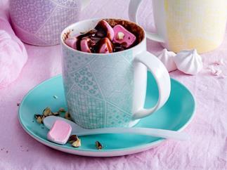 Hazelnut rocky road mug cake