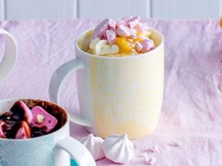 Coconut and lemon mug cake