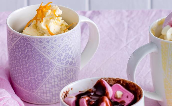 Orange and poppy seed mug cake