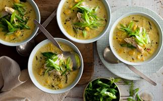 Creamy chicken and sweet corn soup
