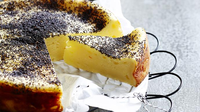 Ricotta and poppy seed cake