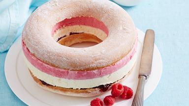 Donut ice cream cake