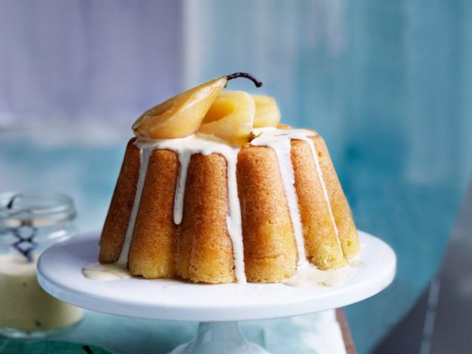 Vanilla cakes, slices and desserts for morning tea