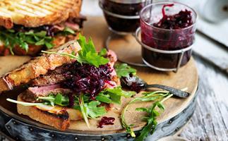 Caramelised onion and beetroot jam