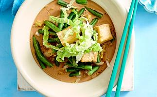 Braised wombok and tofu