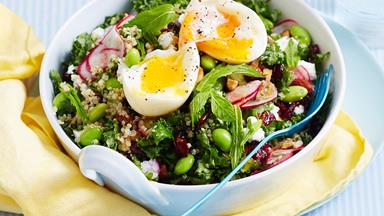 Healthy quinoa breakfast salad
