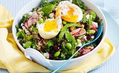 Healthy quinoa breakfast salad