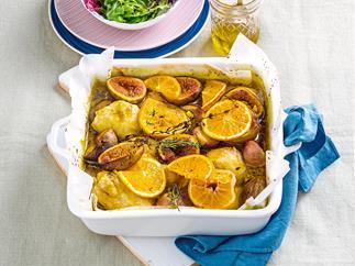 Fig and orange roast chicken