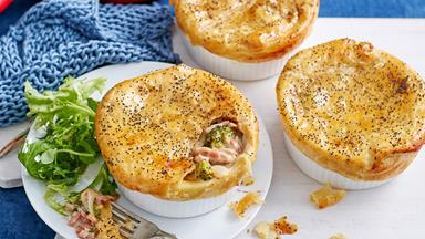 Bacon, broccoli and cheese pie