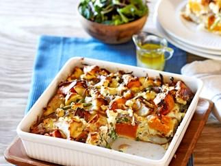 Roast potato and pumpkin frittata