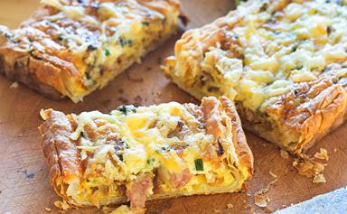 Bacon and cheese tart