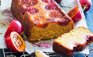 Tamarillo loaf cake