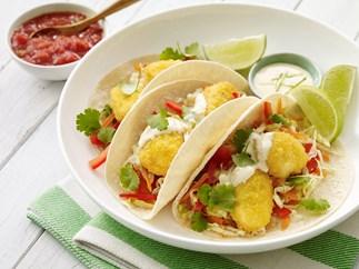 Chicken nugget tacos