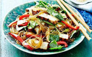 Tofu sesame noodles