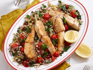 Sicilian fish with couscous