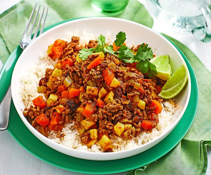 Family mince curry