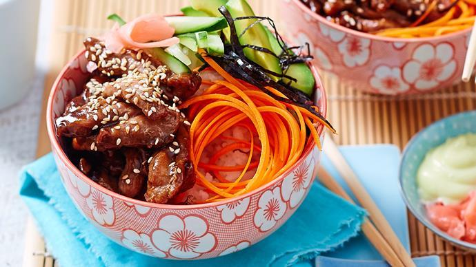 Japanese sushi bowls