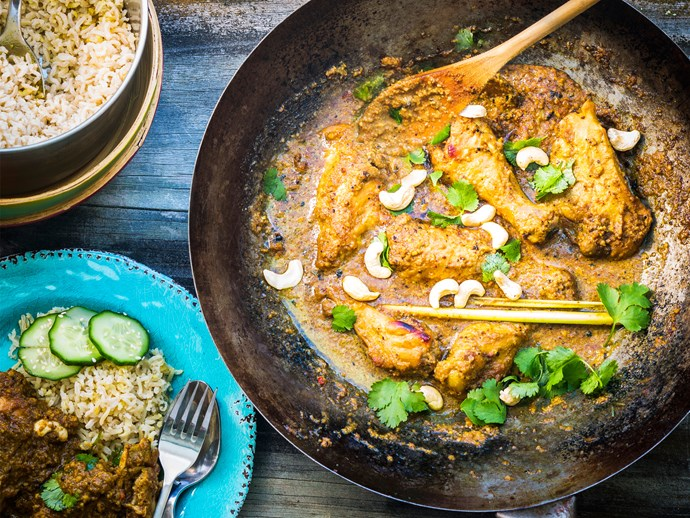 Cashew and ginger chicken curry
