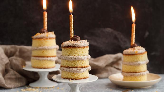 Triple chocolate mini cakes