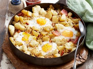 Potato and cauliflower hash