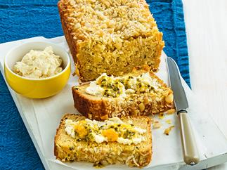 Passionfruit and pineapple bread