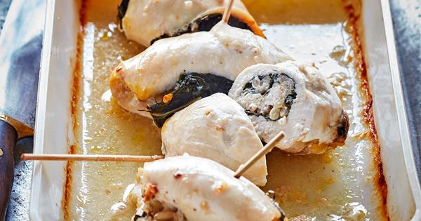 Chicken Roll Ups With Silverbeet Stuffing Food To Love