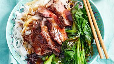 Hoisin beef pot roast with noodles