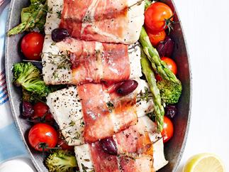 Roast snapper and broccoli