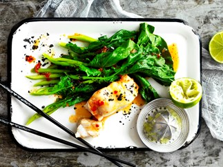 Chilli and lime pan-fried fish