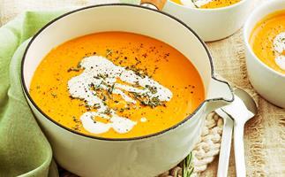 Funky pumpkin soup