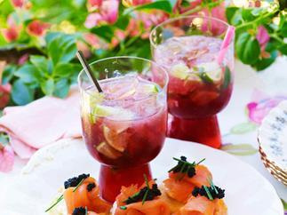 Pomegranate caipiroska