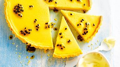 Zesty lemon and passionfruit tart
