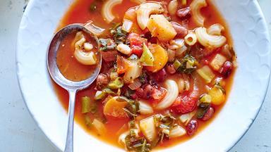Economical minestrone soup