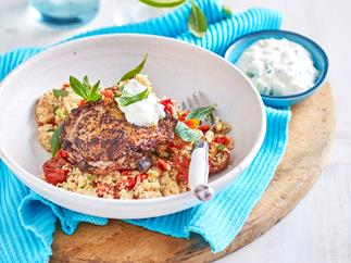 Sumac chicken with herbed couscous