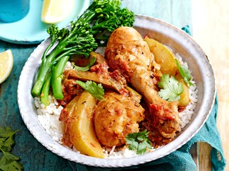 African chicken and peanut curry