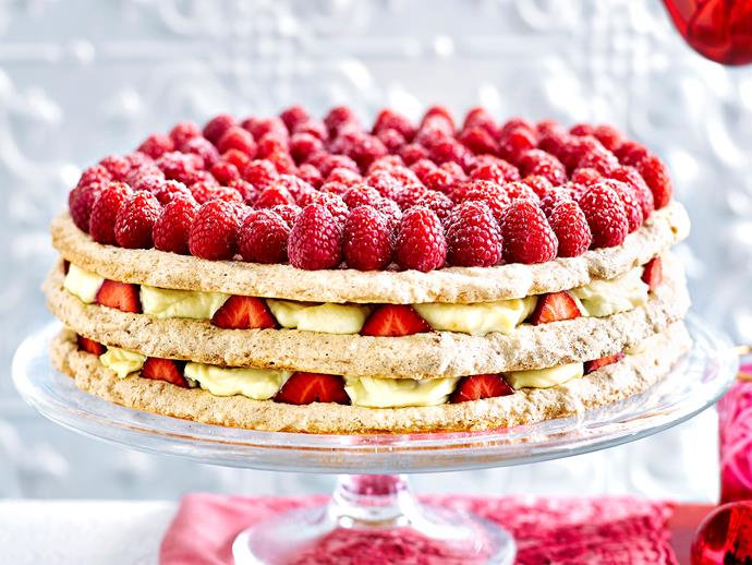 "**[Coconut and mascarpone cake](https://www.womensweeklyfood.com.au/recipes/coconut-and-mascarpone-cake-1630|target=""_blank"")**  This impressive-looking dessert combines the beautiful creaminess of mascarpone cheese with sweet and tart strawberries and raspberries. This cake is lovely served at Christmas time or for birthday celebrations."