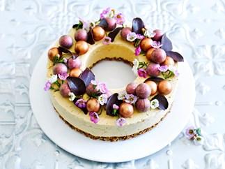 Christmas coffee wreath cake
