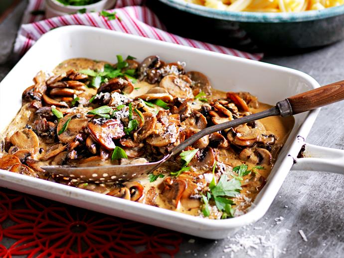 "**[Mixed mushroom pasta](https://www.womensweeklyfood.com.au/recipes/mixed-mushroom-pasta-1649|target=""_blank"")**  This delightful pasta dish is wonderfully creamy, and packed full of hearty mushrooms to fill your belly and comfort your soul. Make a big batch for the family for a warming night in."
