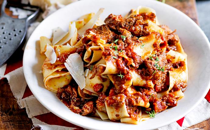 Slow-cooked beef ragu with pappardelle