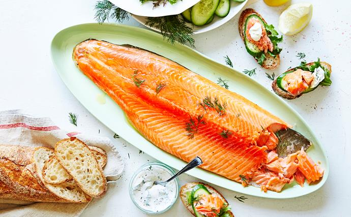 Homemade smoked ocean trout