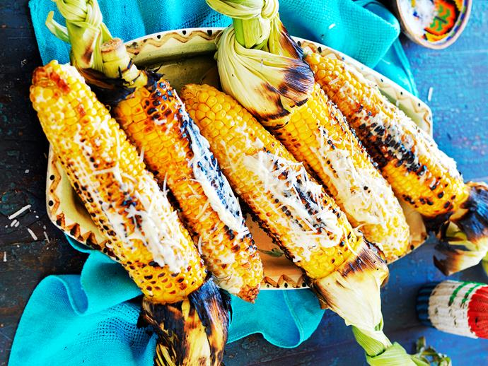 "**[Mexican-style grilled corn](https://www.womensweeklyfood.com.au/recipes/mexican-spiced-grilled-corn-1653|target=""_blank"")** Warm, buttery grilled corn is brilliant topped with creamy mayonnaise and shaved pecorino cheese in this Mexican style recipe. Serve as a side with grilled meat and fresh salads."
