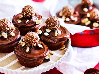 Nutella choc-nut cupcakes