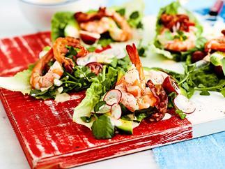 Serve-yourself prawn cocktail