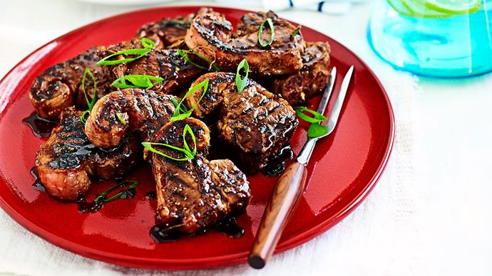 Stout and honey char-grilled lamb chops