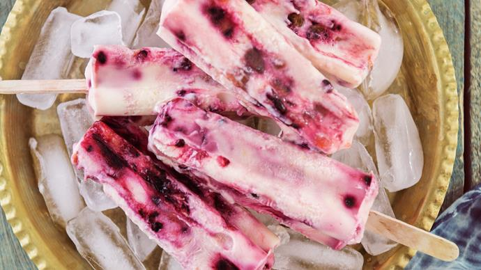 Tamarillo yoghurt ice blocks