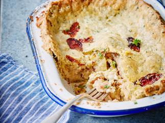 Smoked fish pie with parsley pastry